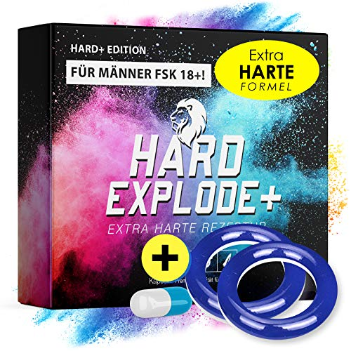 *NEU* Original HardExplode - Das Natürliche Potenzmittel mit der einzigartigen HE+ Formel I NEUTRALE LIEFERVERPACKUNG I 4 Hochdosierte Inhaltsstoffe (+ Blauer & Blauer Ring)