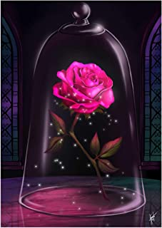 Blxecky 5D Diamond Painting by Number Kits, Crystal Rhinestone Diamond Embroidery Paintings Pictures Arts Craft for Home Wall Decor, Full Drill, ,Rose(30X40CM/12X16inch)