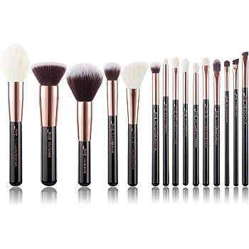Jessup 15pcs oro rosa/negro profesional juego de pinceles de maquillaje Make Up Kit de herramientas de brocha para base de maquillaje en polvo pincel Shader Liner T160: Amazon.es: Belleza