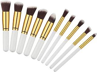 10pcs Rose gold Makeup Brushes professional maquiagem cosmetics make up brushes eyebrow foundation Concealer brush Set,003