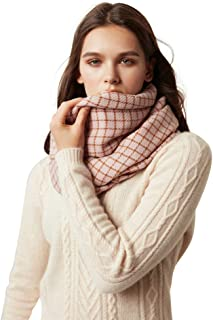 Grid Cashmere Scarf for Women Extra Long Tassel Shawl All-match Style Wrap