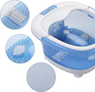All in One Foot Spa Bath Massager with Heating,Bubbles Vibration 3 in 1 Function,Massager Rollers Pedicure for Tired Feet