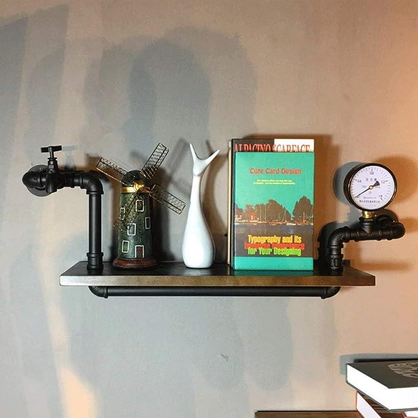 予測する飼料タヒチSelm ディスプレイ棚レトロクリエイティブフローティング棚壁掛け木製本棚壁収納産業収納ラック