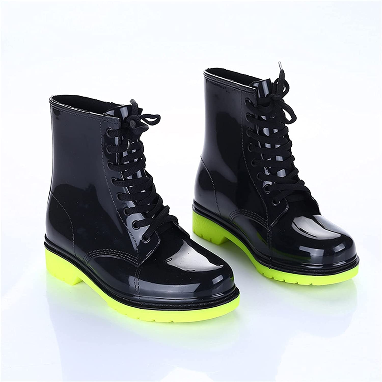 LUBINGT Rain Boots Animer and price revision Women quality assurance Color Waterproof Transparent