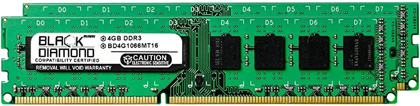 8GB 2X4GB RAM Memory for Foxconn Other Motherboards A6GMV DDR3 DIMM 240pin PC3-8500 1066MHz Black Diamond Memory Module Upgrade