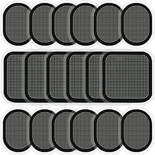 SOYOKO Ersatz-Gel-Pads, 18 Stück Elektroden-Pads, aktualisierte Elektroden-Körper-Pads, Gel-Kleber, kompatibel mit Bauchgurt