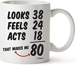 80th Birthday Gifts For Women Eighty Years Old Men Gift Mugs Happy Funny 80 Mens Womens Womans Wifes Female Man Best Friend 1939 Mug Male Unique Ideas 39 Woman Wife Gag Dad Girls Guys Good Husband