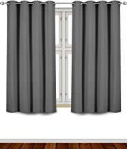 Utopia Bedding Blackout Room Darkening and Thermal Insulating Window Curtains/Panels/Drapes - 2 Panels Set - 8 Grommets per Panel - 2 Tie Backs Included (Grey, 52 x 63 Inches with Grommets)