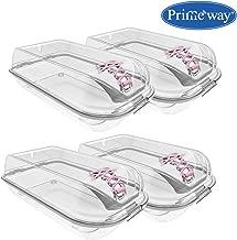 Primeway® Tuffex Ladies Plastic Shoes Box, Pack of 4, Transparent