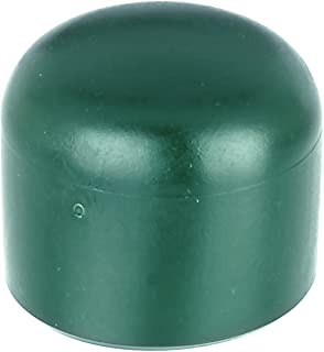 10 Stück Pfostenkappen Rundrohr Ø 59-60 mm PVC grün Zaunbau