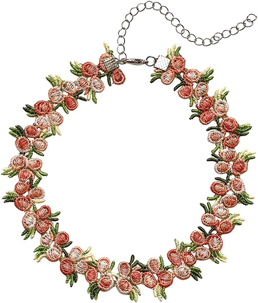 YAZILIND Retro Collar Choker Necklace Flower Clavicle Chain Female Simple Party Jewelry