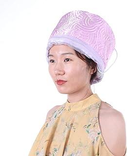Gorro para vaporizador de cabello, sombrero eléctrico cuidado cabello máscara para cabello casco calefactor con control temperatura 3 niveles cabello gorro tratamiento térmico cabello spa hogar(#1)