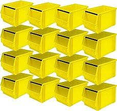 """'16x Visión Caja """"Classic Fb 3con mango Barra, medidas 350/300x 200x 200mm, contenido: 12l), color amarillo"""