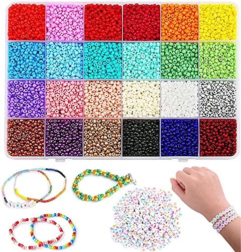 Cuentas de Colores 3mm Mini Cuentas y Abalorios Cristal para DIY Pulseras...
