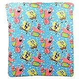 Northwest Kid's Colorful Character Lightweight Throw Blanket 46' x 60' (Spongebob & Patrick)