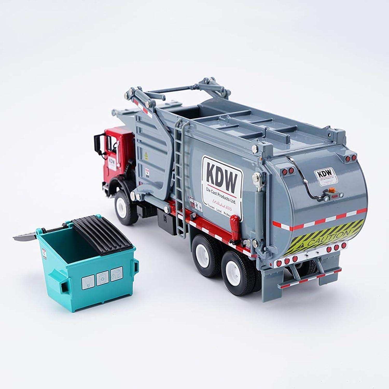 Hyzb 1 24 Mastab Materialien Transportfahrzeug Diecast Simulation Modell, Engineering Vehicle Alloy Model Collection Kinderspielzeug - Grau -21x6x8.5CM