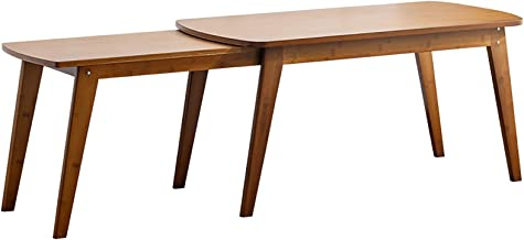 Household Retractable Coffee Table Solid Wood Small Apartment Tea Table Modern Minimalist Rectangular Low Table Living Roo...