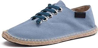 Scarpe Basse da Uomo Espadrillas Primavera Estate Canapa Sneakers Allacciate in Tela Traspirante Moda Allacciata Scarpe da...