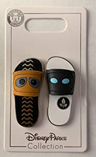 Disney Pin 110126 Sandals/Flip Flops - Wall-E and Eve (2 Pin Set) (These are Pins not actual Sandals.)