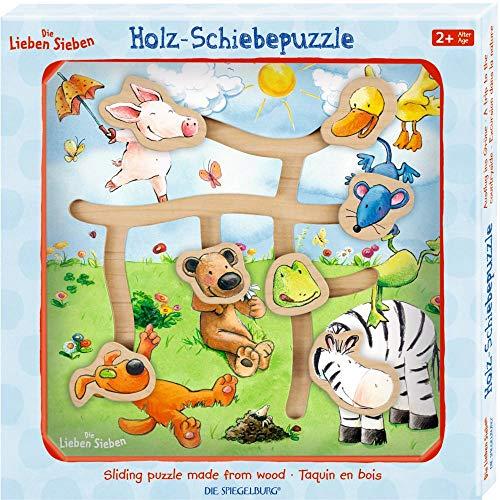 Die Spiegelburg 15101 Holz-Schiebepuzzle Ausflug ins Grüne Die Lieben Sieben