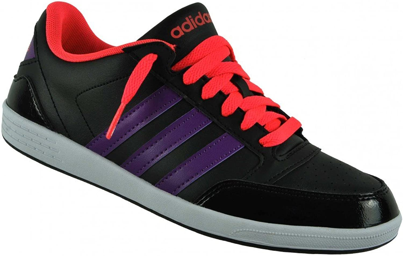 Adidas VL Neo Hoops Lo Trainers Women Casual shoes Black, Sizes EU 38.5 - UK 5.5 - US 7 - CM 24