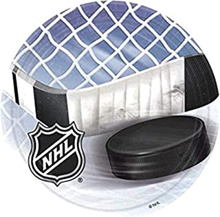 """Amscan 553834 NHL Ice Time! Collection 9"""" Round, 8 pcs, Party Plates"""