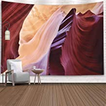 Sertiony Tenaly Tapestry Wall Hanging,Colorful Tapestry Wall Hanging 80X60 Inches Patterns Carved Walls Antelope Canyon College Dormitory Decorative Tapestry,Tapestry Wall Decor