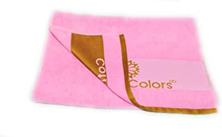 Cotton Colors Baby Bath Towel (Pink, Pack of 1)