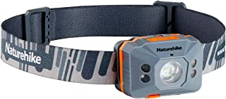 Naturehike LEDヘッドライト センサー機能 超軽量4モード 高輝度180ルーメンUSB充電式 防水防災 停電時用 角度調整可 収納袋付き