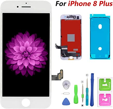6ae8c19b24d FFtopu Compatible with iPhone 8 Plus Screen Replacement White-LCD Display &  Touch Screen Digitizer