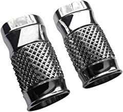 Eddie Trotta Designs Fork Slider Covers - Cross-Cut Chrome TC962