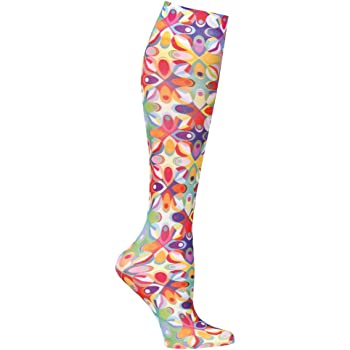 Celeste Stein Moderate Compression Knee High Stockings Wide Calf - Abstract Colors