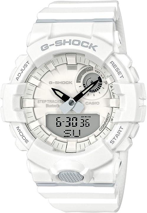 Orologio casio g-shock steptracker/pedometro sensore di movimento 20 bar analogico - digitale uomo GBA-800-7AER