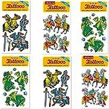 Neu: 6-teiliges Tattoo-Set * Ritter & Drachen * vom Lutz Mauder-Verlag   Kinder Kindertattoo...