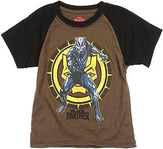 Black Panther Marvel Little Boys' Raglan Tee