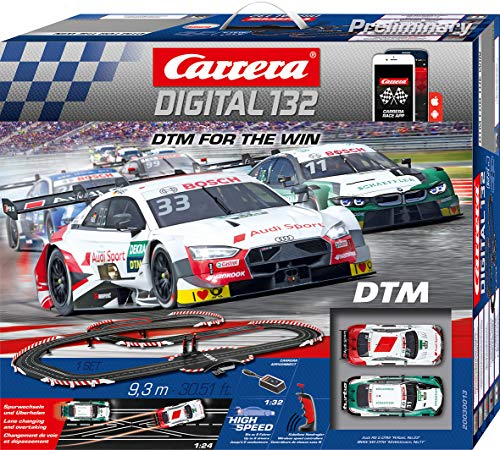 Carrera Digital 132 Rennbahn DTM for The Win Wireless AppConnect Set / Grundpackung 30013 Autorennbahn