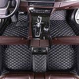Tapis de sol pour voiture B-M-W 1 2 3 4 5 6 7 8 Series - Protection contre les intempéries - Cuir imperméable lavable - Antidérapant - Accessoire de couverture complète - Tapis de sol (noir beige)