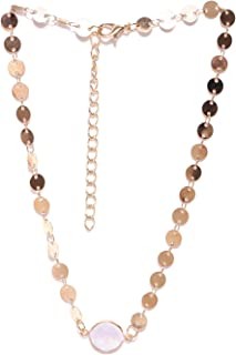 Oomph Jewellery Gold Tone Opal Crystal Studded Fashion Necklace for Women & Girls(NSSK39)