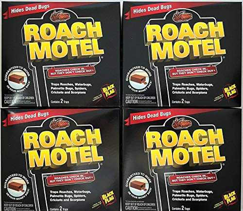 Black Flag 8 traps Roach Motel Cockroach Killer bait...