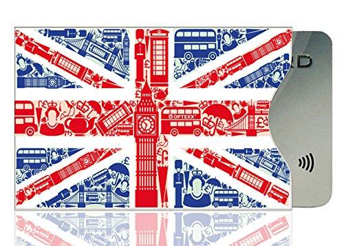 OPTEXX 1x RFID Schutzhülle TÜV geprüft & zertifiziert Britisch für Kreditkarte | EC-Karte |...