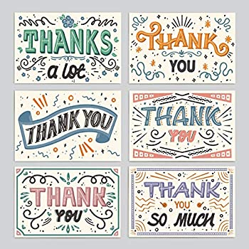 Minimalmart Premium Thank You Cards Box Set of 48 Assorted Premium Cards – Boxed Assortment Pack with Envelopes -Thank You Note Greeting Cards