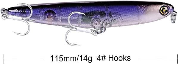 Predilures Bass Pike surface Lure Zig Zag Walker Floating 90mm 12g BKB hooks Long cast 500G