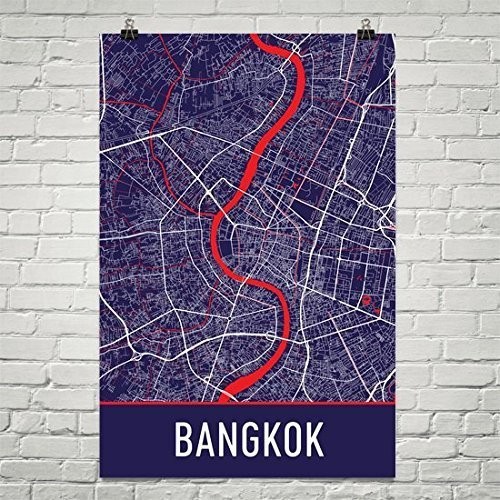 Modern Map Art Bangkok Poster, Bangkok Art Print, Bangkok Wall Art, Bangkok Map, Bangkok City Map, Bangkok Alabama City Map Art, Bangkok Gift, Bangkok Décor