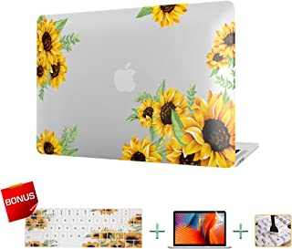 Laptop Case MacBook Case Sunflower Hard Shell Case for MacBook Air 13 inch Model A1932 (2019/18 Release) with Keyboard Skin Cover and Screen Protector