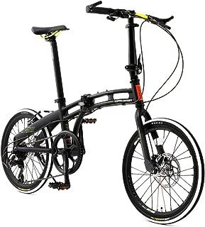 DOPPELGANGER(ドッペルギャンガー) 【 Blackmax シリーズ 】 ASSAULTPACK 20インチ 折りたたみ自転車 シマノ7段変速 アルミフレーム グレー×ネオン.YE 211-R-GY
