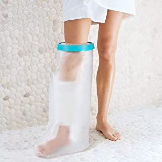 Waterproof Leg Cast Cover for Shower, Waterproof Cast Protector Bag for Bath, Watertight Plastic Protection Reusable Seal for Broken Leg Knee Foot Ankle Wound -Adult Leg Size(24 Inches)