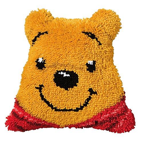 Vervaco–Kit para cojín de Ganchillo de Alfombra, diseño de Osito, Multicolor Forma de Winnie The Pooh