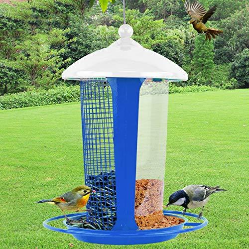IVNGRI comedero para pajaros Comedero para pájaros Silvestres para la decoración del jardín, Gran comedero para pájaros (Color : Blue): Amazon.es: Hogar