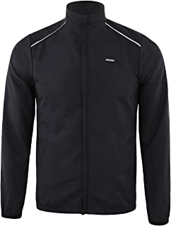 DONEN Cycling Waterproof Lightweight Windproof Jacket with UV Protection Bike Breathable Outdoor Sports Wear( Black L )