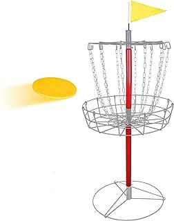 ZENSTYLE Portable 12-Chain Disc Golf Basket Target & Accessories - Separable Lightweight Iron Frolf/Frisbee Golf Practice Set for Outdoor/Indoor